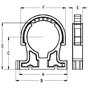 PP Rohrschelle/Rohrklemme 10mm