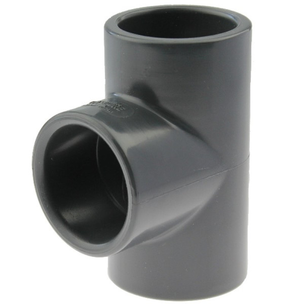 PVC-U T-Stück 90° 20mm, Klebemuffe