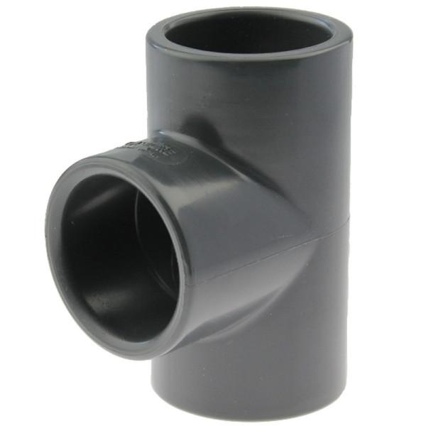 PVC-U T-Stück 90° 32mm, Klebemuffe