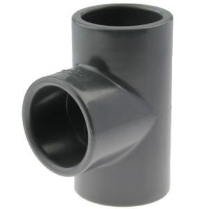 PVC-U T-Stück 90° 40mm, Klebemuffe