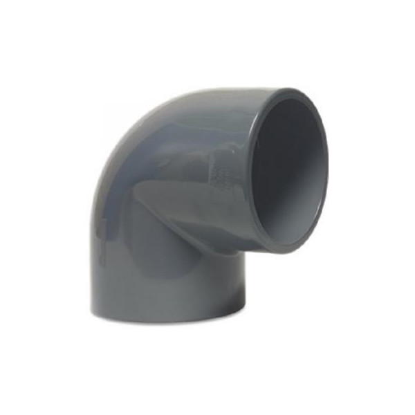 PVC-U Winkel 90° 16mm, Klebemuffe