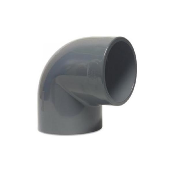 PVC-U Winkel 90° 20mm, Klebemuffe