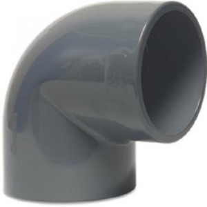 PVC-U Winkel 90° 50mm, Klebemuffe