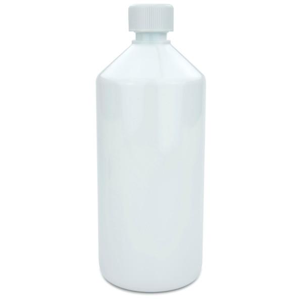 PET Laborflasche 1000 ml weiss mit Schraubverschluss